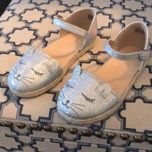 NWOT Children's place cat silver sandals